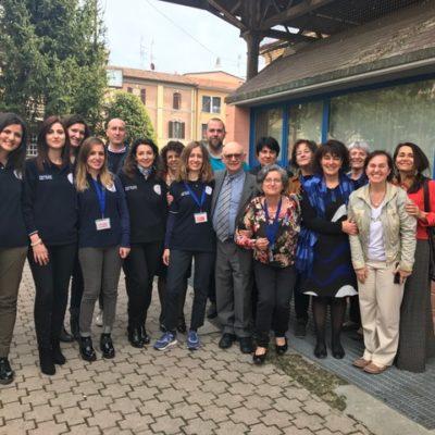 il gruppo di docenti e tutor della giornata di formazione del 1 aprile al centro Luigi Ranzato, Anna Ancona (Presidente dell'Ordine degli psicologi E-R)