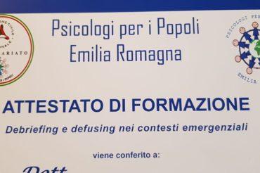 Psicologi per l'emergenza in formazione