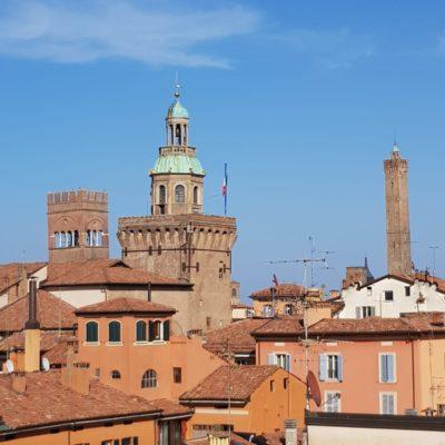 Palouse Mindfulness 2019: veduta panoramica di Bologna dalla terrazza dello Spazio Galileo
